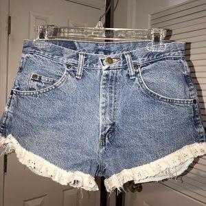 Wrangler Women's Jean Shorts with Eyelet Detail
